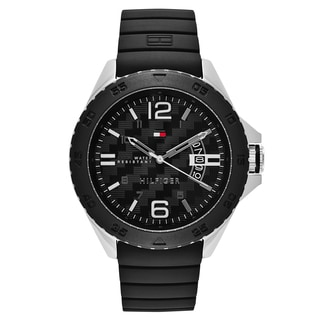 Tommy Hilfiger Black Stainless Steel/Rubber Quartz Men's Watch