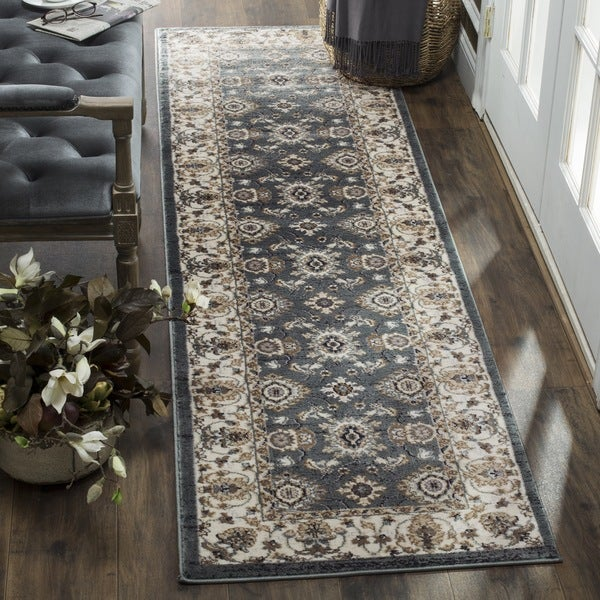 Safavieh Lyndhurst Traditional Oriental Teal/ Cream Runner