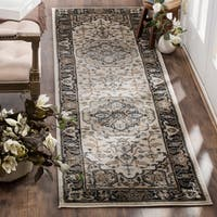 Safavieh Lyndhurst Traditional Oriental Cream/ Navy Runner Rug - 2' 3 x 12'