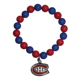 NHL Montreal Canadiens Sports Team Logo Fan Bead Bracelet