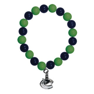NHL Vancouver Canucks Sports Team Logo Fan Bead Bracelet