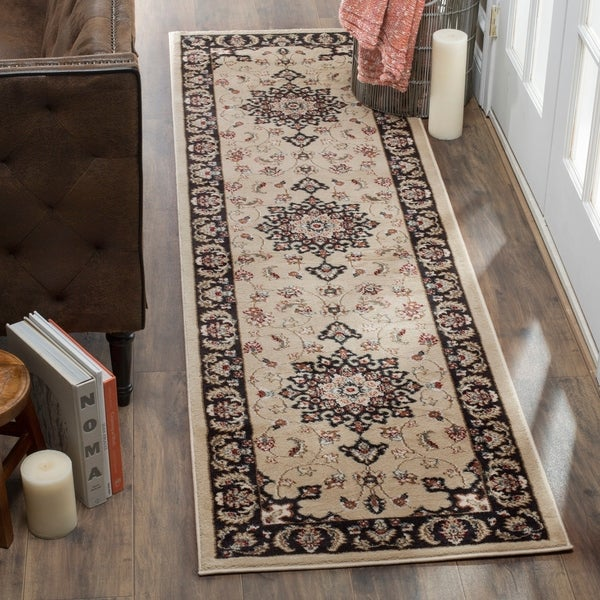 Safavieh Lyndhurst Traditional Oriental Cream/ Anthracite Runner Rug - 2' x 12'