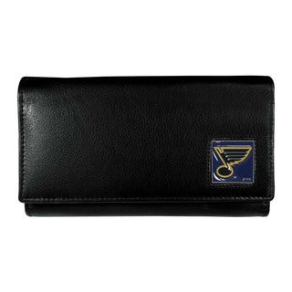 NHL Women's St. Louis Blues Sports Team Logo Leather Wallet