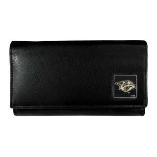 NHL Nashville Predators Women's Leather Foldover Wallet