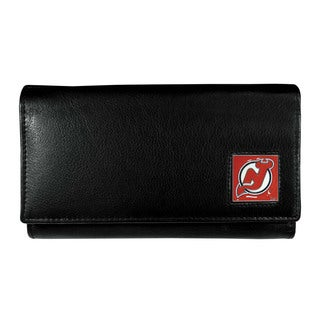NHL New Jersey Devils Leather Sports Team Logo Women's Wallet