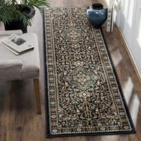 "Safavieh Lyndhurst Traditional Oriental Anthracite/ Teal Runner Rug - 2'3"" x 12'"