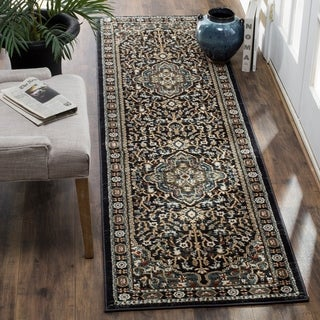 "Safavieh Lyndhurst Traditional Oriental Anthracite/ Teal Runner Rug - 2'3"" x 8'"