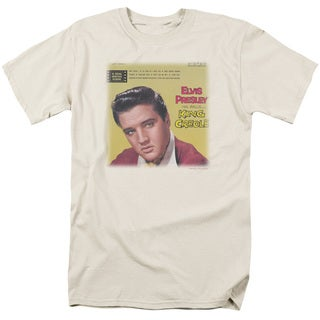 Elvis/King Creole Soundtrack Short Sleeve Adult T-Shirt 18/1 in Cream