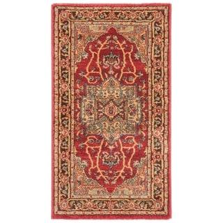 Safavieh Mahal Traditional Grandeur Natural/ Navy Runner Rug (2' 2 x 4')