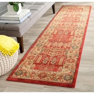 Safavieh Mahal Traditional Grandeur Red/ Natural Runner Rug (2' x 12')
