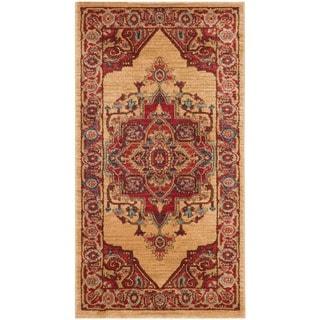 Safavieh Mahal Traditional Grandeur Red/ Natural Runner Rug (2' 2 x 4')