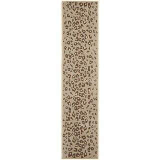 Martha Stewart by Safavieh Kalahari Horizon Sand Beige Wool Runner Rug (2' x 10')