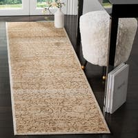 Martha Stewart by Safavieh Heritage Bloom Dune Viscose Runner Rug - 2' 2 x 8'