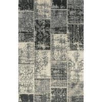Superior Brighton Patchwork Collection Loom Woven Jacquard Cotton Rug (8'x10')