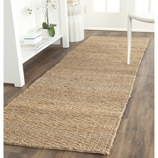 Safavieh Casual Natural Fiber Hand-Woven Light Blue/ Natural Brown Jute Runner (2' x 10')