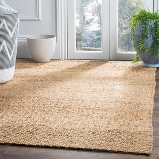 Safavieh Hand-Woven Natural Fiber Light Blue / Natural Jute Runner Rug (2' x 6')