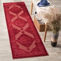 "Safavieh Paradise Watercolor Vintage Red Viscose Runner Rug - 2'2"" x 8'"