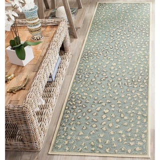 Safavieh Paradise Watercolor Vintage Cream / Spruce Viscose Runner Rug (2'2 x 8')