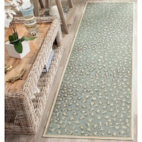 "Safavieh Paradise Watercolor Vintage Cream / Spruce Viscose Runner Rug - 2'2"" x 8'"
