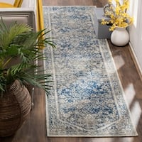 Safavieh Patina Vintage Grey / Blue Cotton Runner Rug - 2' 2 x 8'