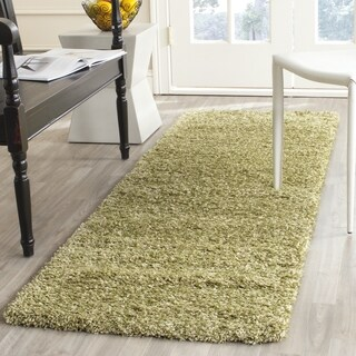 Safavieh California Shag Green Runner Rug (2' x 5')
