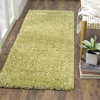 Safavieh California Cozy Plush Green Shag Runner (2' x 9')