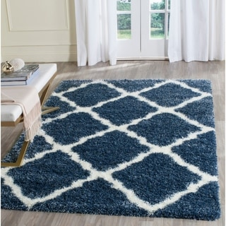 Safavieh Montreal Shag Grey/ Ivory Polyester Rug (2' x 5')