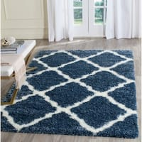 Safavieh Montreal Shag Grey/ Ivory Polyester Rug - 2' x 5'