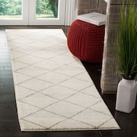 Safavieh Tunisia Ivory / Light Grey Runner Rug - 2' 3 x 8'