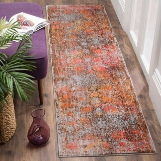 Safavieh Vintage Persian Brown / Multicolored Polyester Runner Rug (2' 2 x 12')