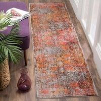 Safavieh Vintage Persian Brown/ Multi Distressed Runner Rug - 2' 2 x 8'