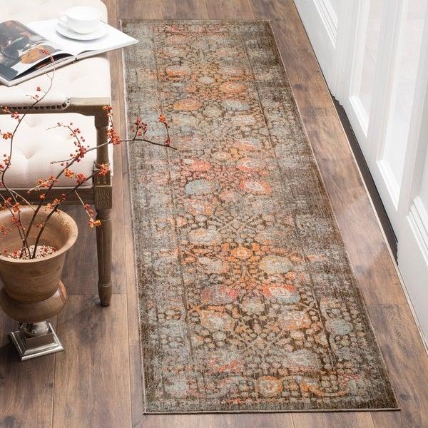 Safavieh Vintage Persian Brown/ Multi Distressed Runner Rug - 2' 2 x 12'