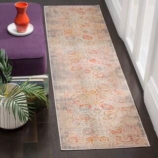 Safavieh Vintage Persian Grey/ Multi Distressed Silky Runner Rug (2' 2 x 12')
