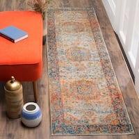 "Safavieh Vintage Persian Blue/ Multi Distressed Runner Rug - 2'2"" x 8'"