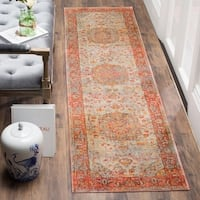 Safavieh Vintage Persian Saffron/ Cream Distressed Runner Rug - 2' 2 x 8'