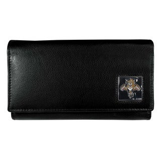 NHL Women's Florida Panthers Sports Team Logo Leather Wallet