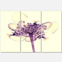 Fractal Flower Light Pink - Floral Glossy Metal Wall Art - 36Wx28H