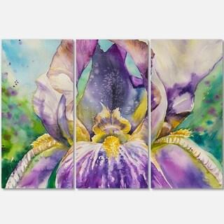 Iris Flower Close-up - Floral Art Glossy Metal Wall Art - 36Wx28H