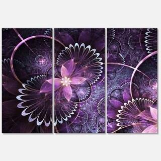Fractal Flower Soft Purple - Flower Large Metal Wall Art - 36Wx28H