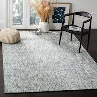 Safavieh Handmade Modern Abstract Blue / Charcoal Wool Rug (4' x 6')
