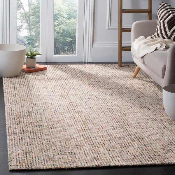 Safavieh Handmade Modern Abstract Beige / Rust Wool Rug - 4' x 6'