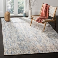 Safavieh Handmade Modern Abstract Dark Blue / Rust Wool Rug - 4' x 6'