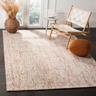 Safavieh Handmade Modern Abstract Gold / Blue Wool Rug (4' x 6')