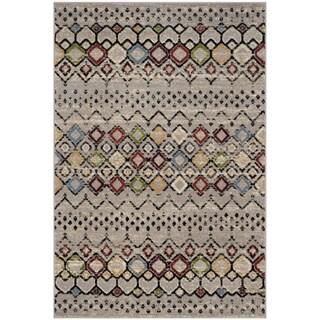 Safavieh Amsterdam Bohemian Light Grey / Multicolored Rug (3' x 5')