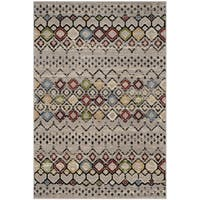 Safavieh Amsterdam Bohemian Light Grey / Multicolored Rug - 3' x 5'