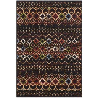 Safavieh Amsterdam Bohemian Black / Multicolored Rug (3' x 5')