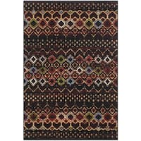 Safavieh Amsterdam Bohemian Black / Multicolored Rug - 3' x 5'