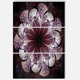 Soft Pink Fractal Flower - Floral Glossy Metal Wall Art - 36Wx28H