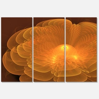 Water Lily Fractal Flower - Floral Glossy Metal Wall Art - 36Wx28H