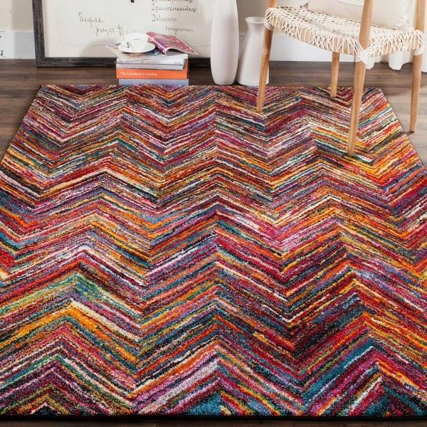 Shop Safavieh Aruba Abstract Multi Colored Rug 4 X 6